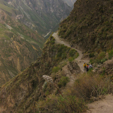 hiking in the Colca Canyon