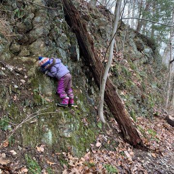 Muddy muddy slippery hike at Harmony Hill Preserve